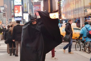 People dress up as Batman, Elmo and M&M's make Times Square a family fave.