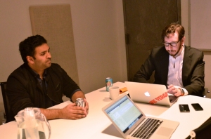 Nilay Patel, The Verge's managing editor (left) and Josh Topolsky.