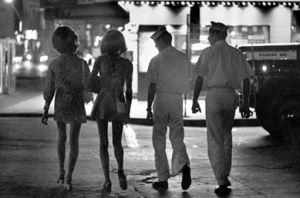 Pimps and prostitutes were common in Times Square as were drug deals.